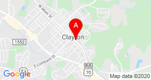 Map of Clayton NC